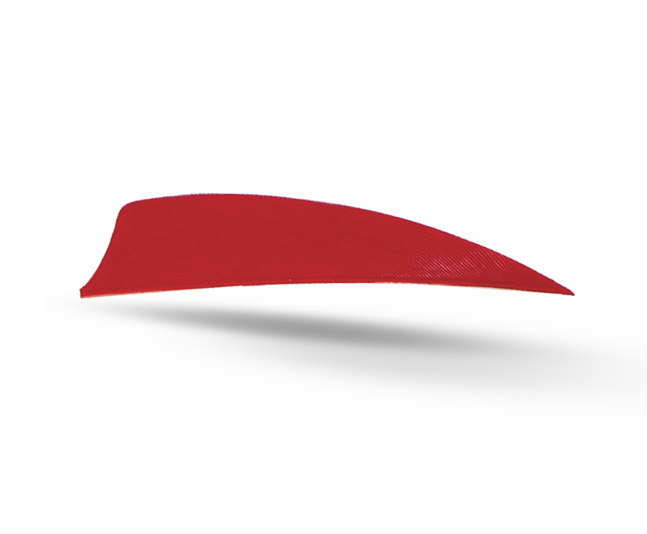 GAS PRO NATURAL FEATHERS 3'' SHIELD 50 PACK RED