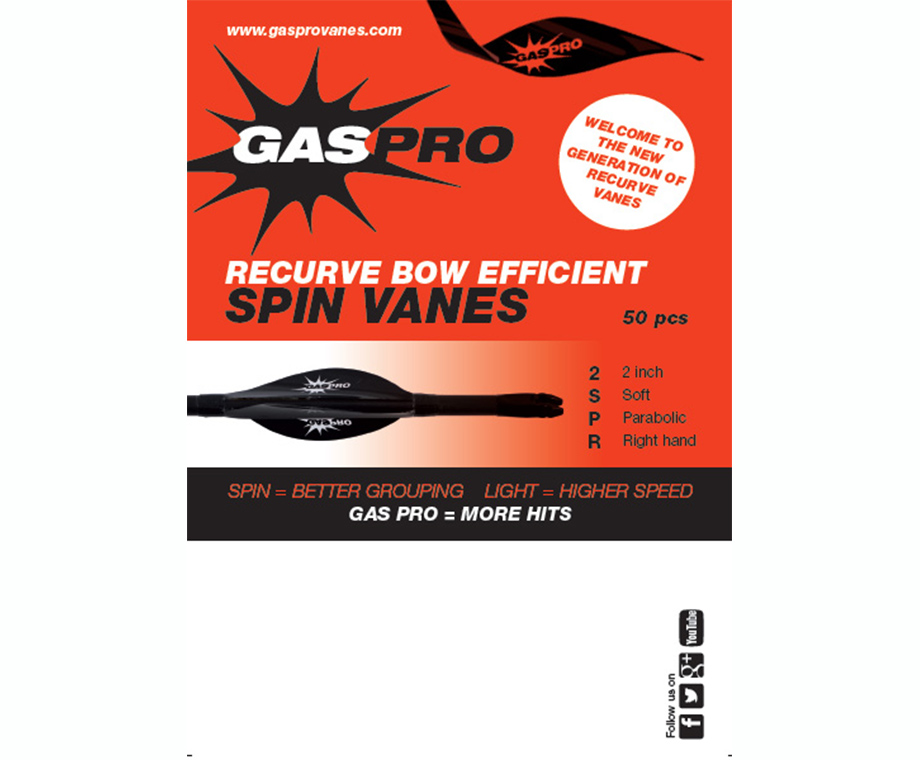GAS PRO SPIN VANES RECURVE BOW EFFICIENT 2''